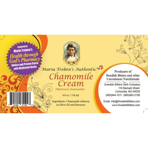 Chamomile Cream (4oz/118ml) - Maria Treben's Authentic™