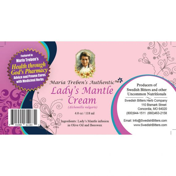 Lady's Mantle Cream (4oz/118ml) - Maria Treben's Authentic™