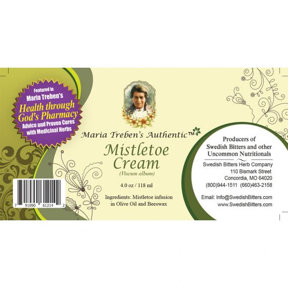 Mistletoe Cream (4oz/118ml) - Maria Treben's Authentic™