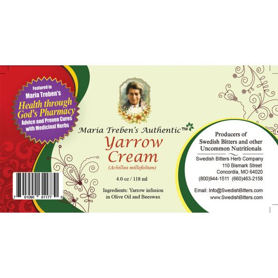 Yarrow Cream (4oz/118ml) - Maria Treben's Authentic™