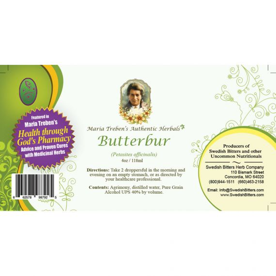 Butterbur Extract / Tincture (4oz/118ml) - Maria Treben's Authentic™