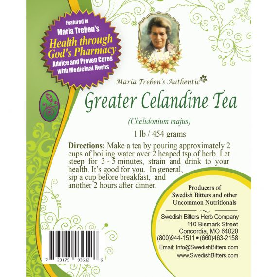 Greater Celandine Tea (1lb/454g) BULK - Maria Treben's Authentic™