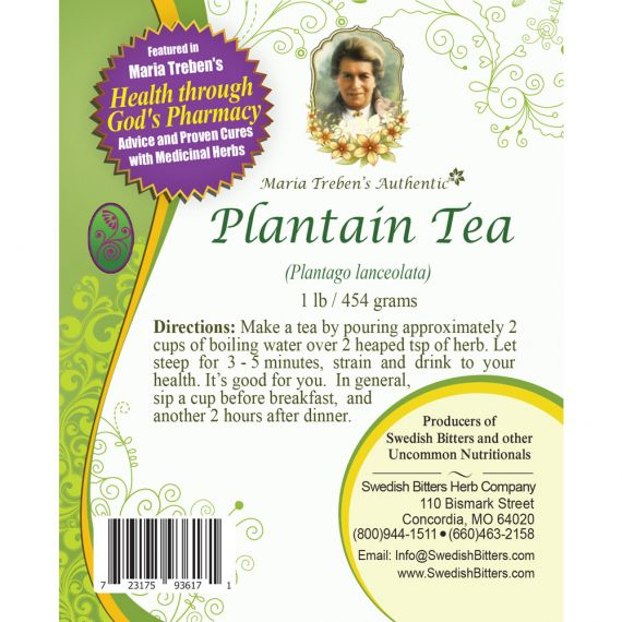 Plantain Tea (1lb/454g) BULK - Maria Treben's Authentic™