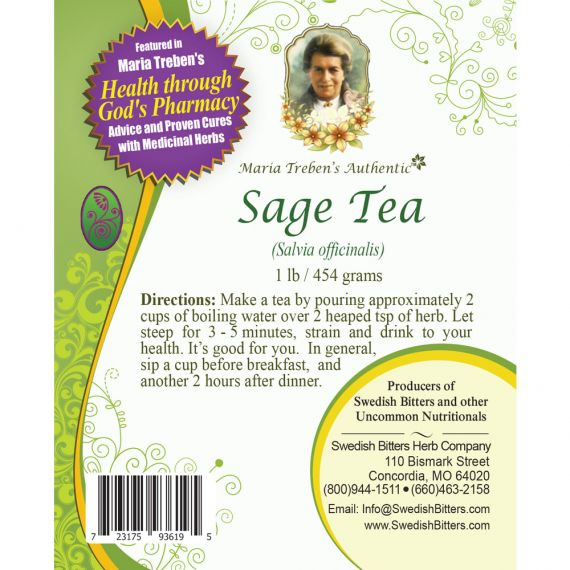 Sage Tea (1lb/454g) BULK - Maria Treben's Authentic™