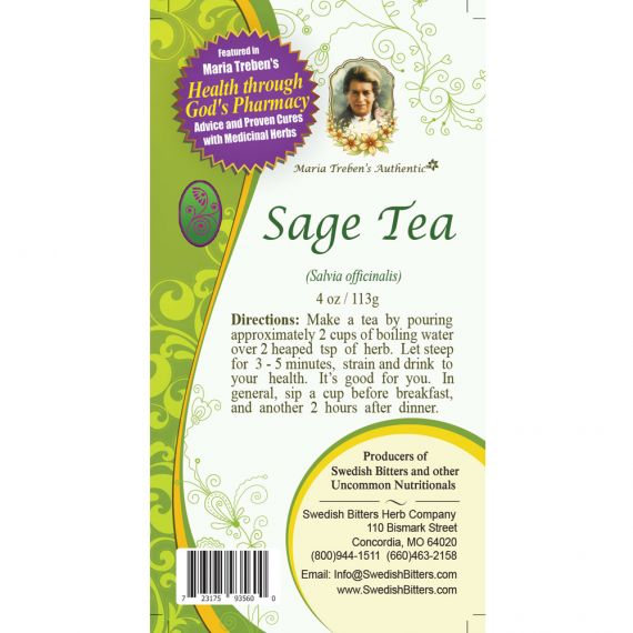 Sage Tea (4oz/113g) - Maria Treben's Authentic™