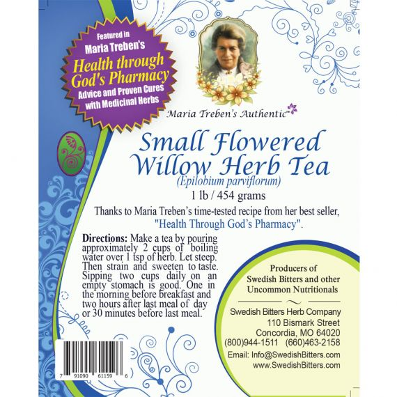 Small Flowered Willow Herb Tea (1lb/454g) BULK - Maria Treben's Authentic™