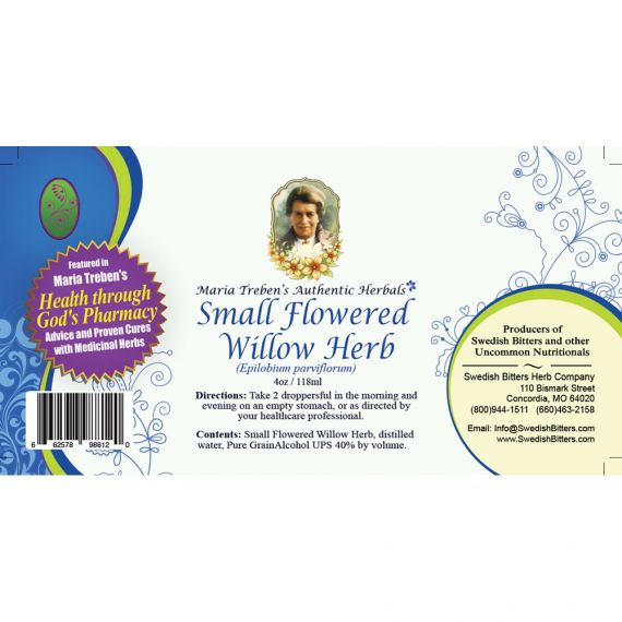 Small Flowered Willow-Herb Extract / Tincture (4oz/118ml) - Maria Treben's Authentic™