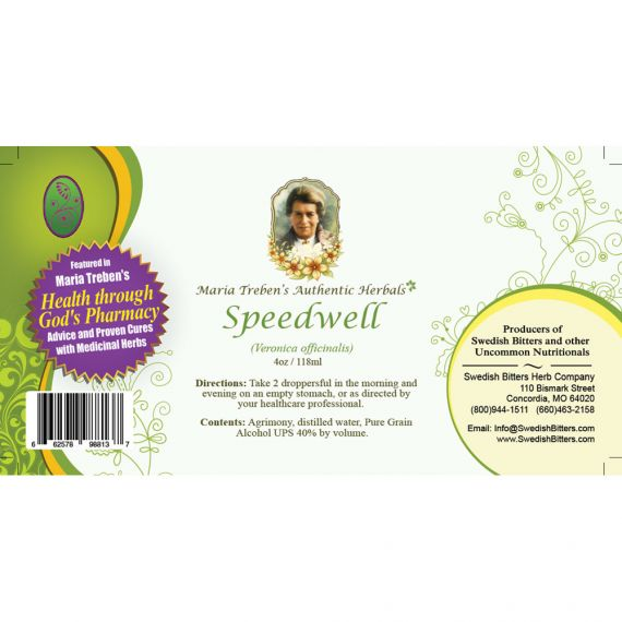 Speedwell Extract / Tincture (4oz/118ml) - Maria Treben's Authentic™