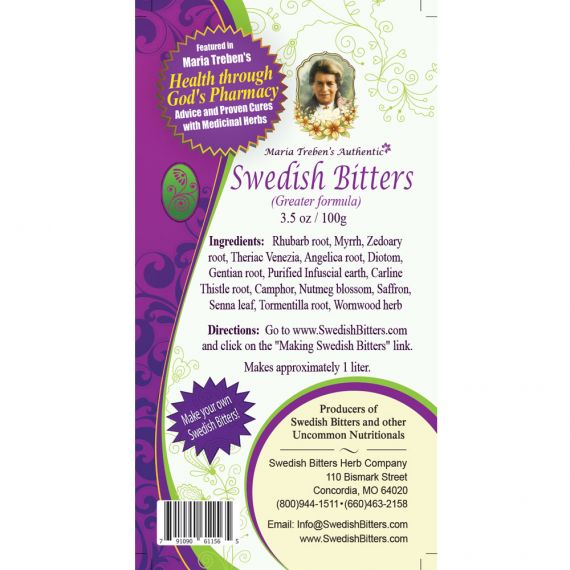 Swedish Bitters Dry Mixture [Greater] (3.5oz/100g) - Maria Treben's Authentic™