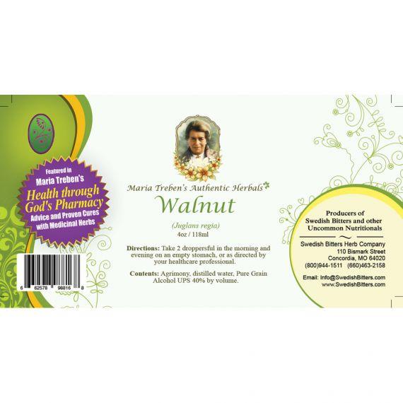 Walnut Extract / Tincture (4oz/118ml) - Maria Treben's Authentic™