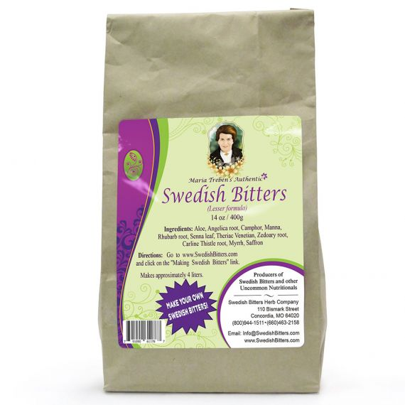 Bulk Maria Treben's Authentic Dry Swedish Bitters [Lesser] Mixture (14oz/400g)