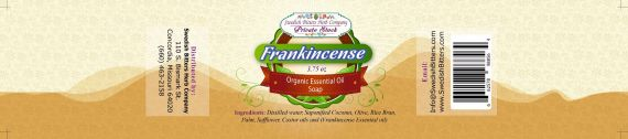 Frankincense 3.75oz Bar Essential Oil Soap - Swedish Bitters Herb Company Private Stock