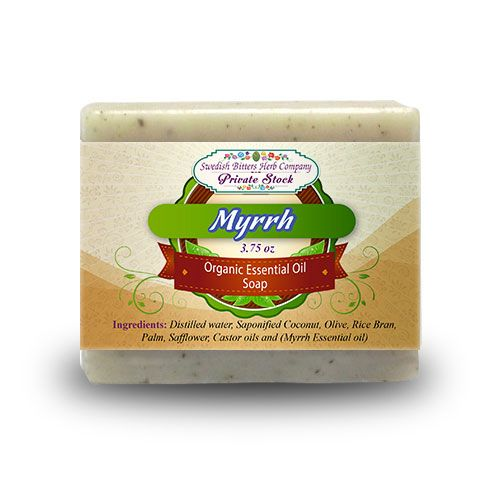 Myrrh 3.75oz Bar Essential Oil Soap - Swedish Bitters Herb Company Private Stock