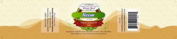 Neem 3.75oz Bar Essential Oil Soap - Swedish Bitters Herb Company Private Stock