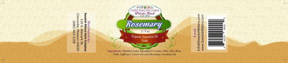 Rosemary 3.75oz Bar Essential Oil Soap - Swedish Bitters Herb Company Private Stock