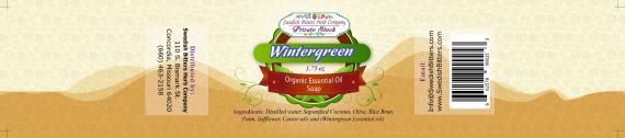 Wintergreen 3.75oz Bar Essential Oil Soap - Swedish Bitters Herb Company Private Stock