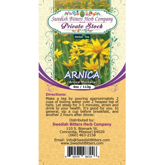 Arnica Flower (Arnica Montana) Herbal Tea (4oz/113g) - Swedish Bitters Herb Company Private Stock