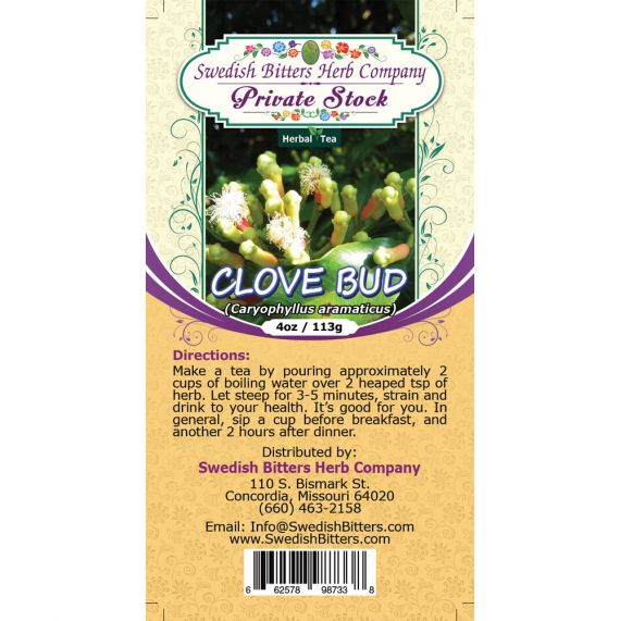 Clove Bud (Eugenia caryophyllata) Herbal Tea (4oz/113g) - Swedish Bitters Herb Company Private Stock