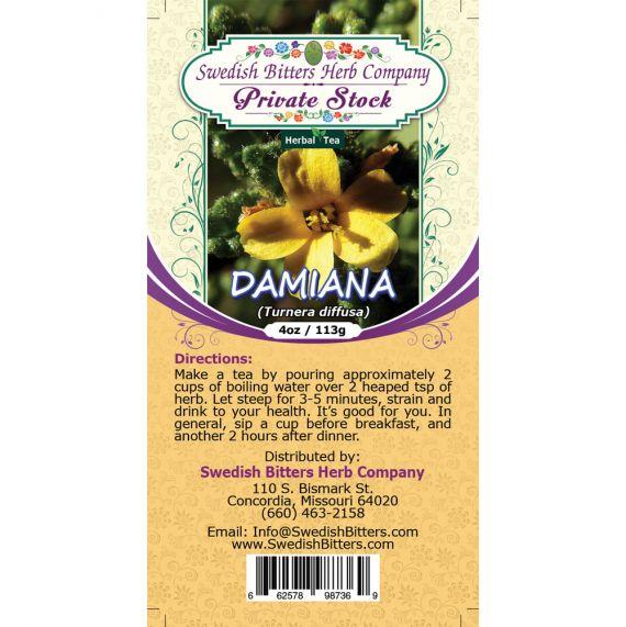 Damiana Herb (Turnera diffusa) Herbal Tea (4oz/113g) - Swedish Bitters Herb Company Private Stock