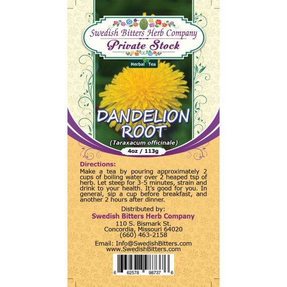 Dandelion Root (Taraxacum officinale) Herbal Tea (4oz/113g) - Swedish Bitters Herb Company Private Stock