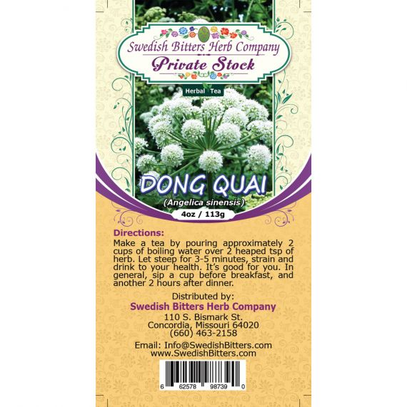 Dong Quai Root (Angelica sinensis) Herbal Tea (4oz/113g) - Swedish Bitters Herb Company Private Stock