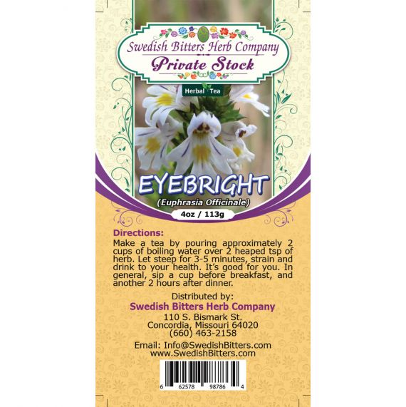 Eyebright Leaf (Euphrasia fficinalis) Herbal Tea (4oz/113g) - Swedish Bitters Herb Company Private Stock