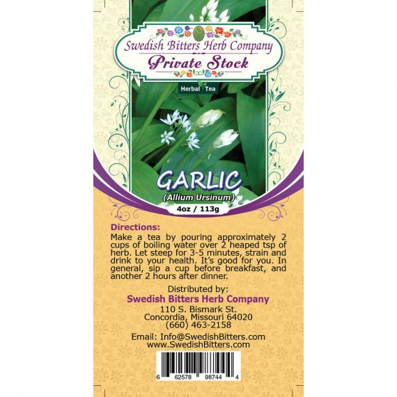 Garlic Bulb (Allium sativum) Herbal Tea (4oz/113g) - Swedish Bitters Herb Company Private Stock