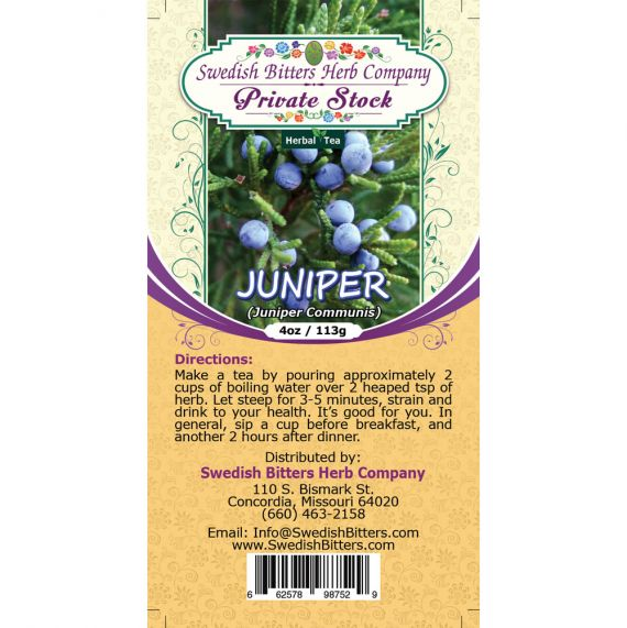 Juniper (Juniperus Communis) Herbal Tea (4oz/113g) - Swedish Bitters Herb Company Private Stock
