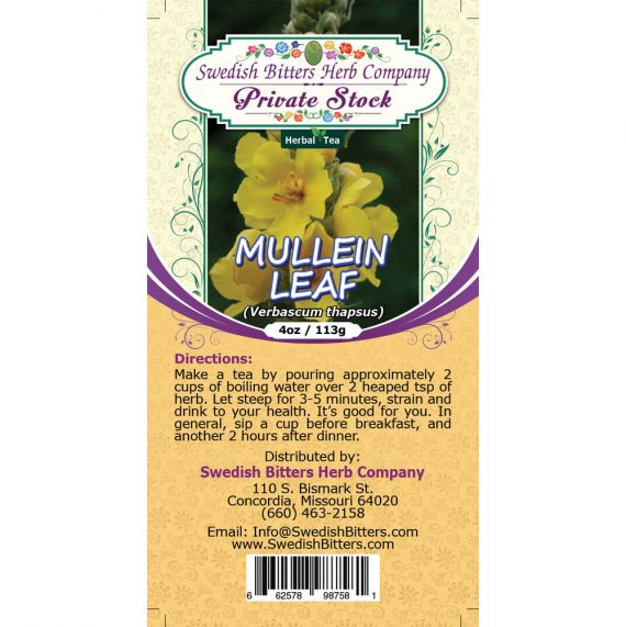 Mullein Leaf (Verbascum Thapsus) Herbal Tea (4oz/113g) - Swedish Bitters Herb Company Private Stock