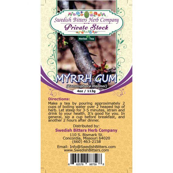 Myrrh Gum (Commiphora Myrrha) Herbal Tea (4oz/113g) - Swedish Bitters Herb Company Private Stock