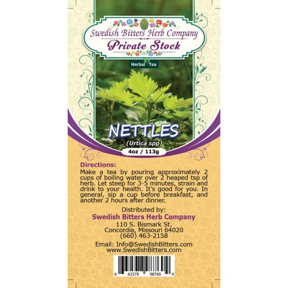 Nettles Leaf (Urtica Dioica) Herbal Tea (4oz/113g) - Swedish Bitters Herb Company Private Stock
