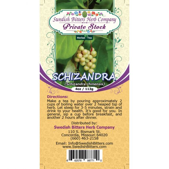 Schizandra Berry (Schizandra Chinensis) Herbal Tea (4oz/113g) - Swedish Bitters Herb Company Private Stock