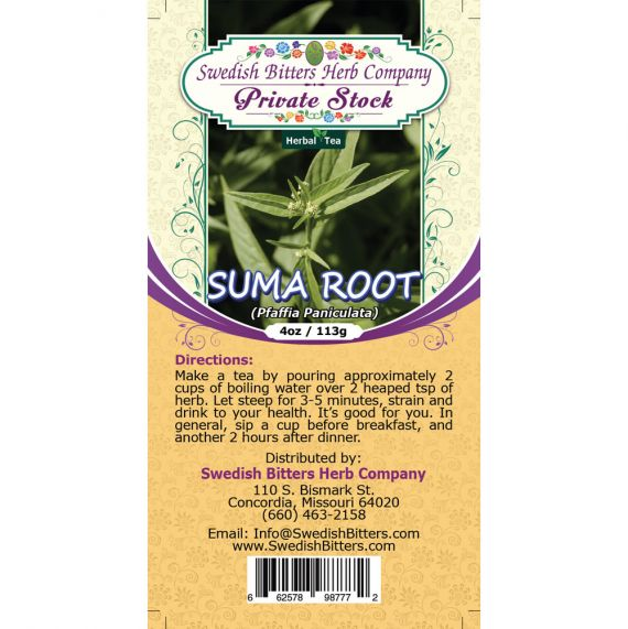 Suma Root (Pfaffia Paniculata) Herbal Tea (4oz/113g) - Swedish Bitters Herb Company Private Stock