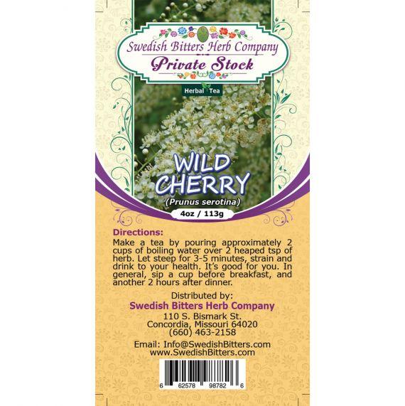 Wild Cherry Bark (Prunus Serotina) Herbal Tea (4oz/113g) - Swedish Bitters Herb Company Private Stock