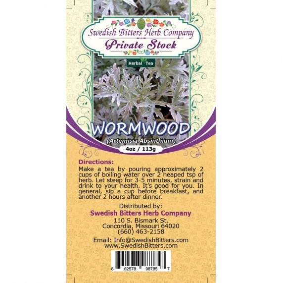 Wormwood Leaf (Artemisia Absinthium) Herbal Tea (4oz/113g) - Swedish Bitters Herb Company Private Stock