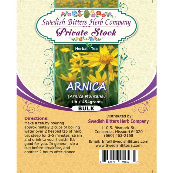 Arnica Flower (Arnica Montana) Herbal Tea (1lb/454g) BULK - Swedish Bitters Herb Company Private Stock