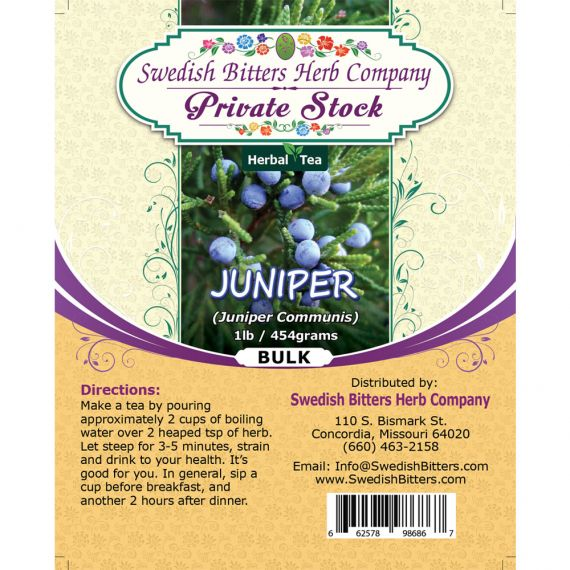 Juniper (Juniperus Communis) Herbal Tea (1lb/454g) BULK - Swedish Bitters Herb Company Private Stock