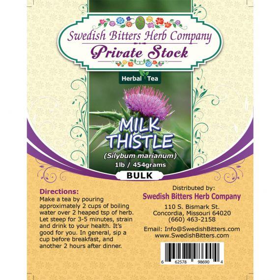 Milk Thistle (Silybum marianum) Herbal Tea (1lb/454g) BULK - Swedish Bitters Herb Company Private Stock