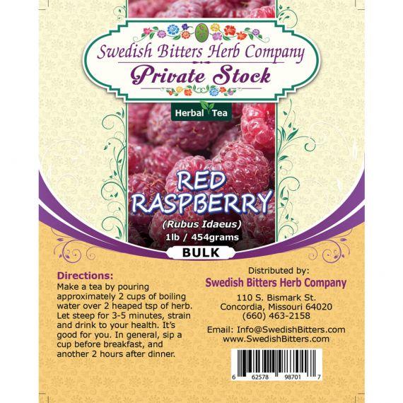 Red Raspberry (Rubus Idaeus) Herbal Tea (1lb/454g) BULK - Swedish Bitters Herb Company Private Stock