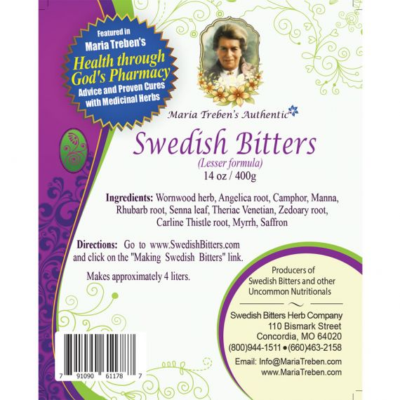 Swedish Bitters Dry Mixture [Lesser] (14oz/400g) BULK - Maria Treben's Authentic™