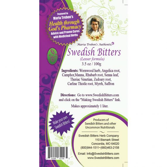 Swedish Bitters Dry Mixture [Lesser] (3.5oz/100g) - Maria Treben's Authentic™