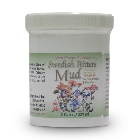 Swedish Bitters Mud (8oz/227ml) jar - Maria Treben's Authentic™