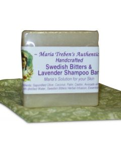 Swedish Bitters & Lavender Handcrafted Shampoo Bar (3oz Bar) - Maria Treben's Authentic™